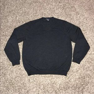 Brooks Brothers Wool Sweater Dark Grey Stretch